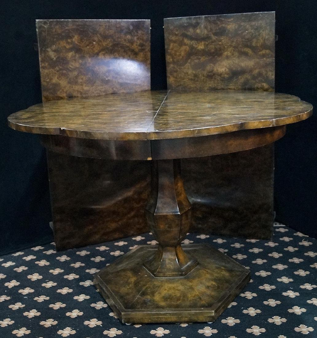 FAUX TORTOISE SCALLOPED TABLE - 3