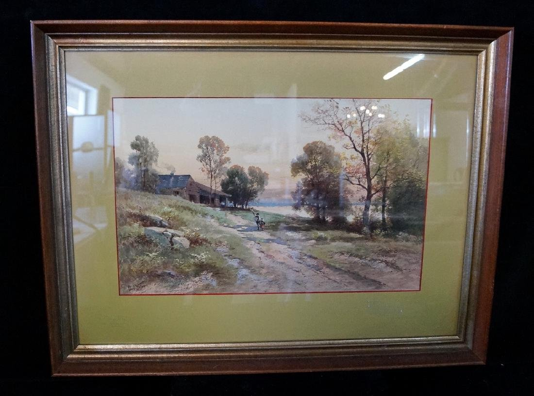 CARL PHILIP WEBER SGN. WATERCOLOR