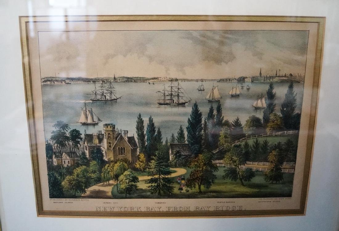 3 CURRIER & IVES PRINTS NEW YORK SUBJECTS - 2