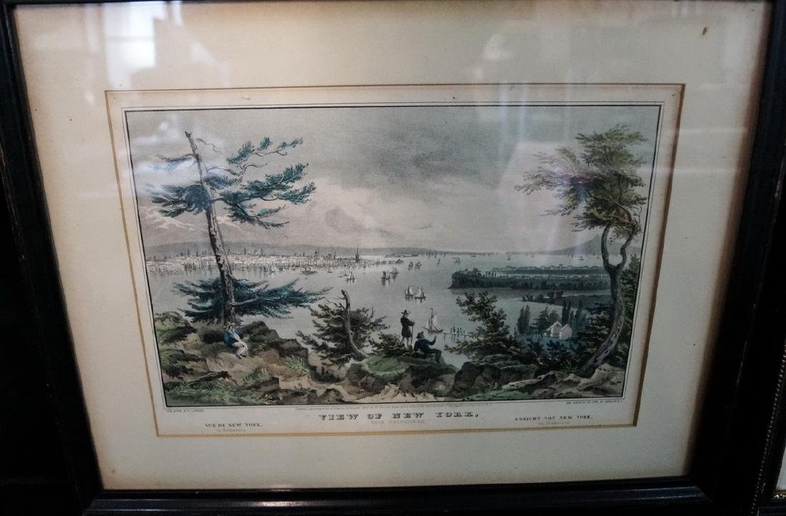 3 CURRIER & IVES PRINTS NEW YORK SUBJECTS - 3