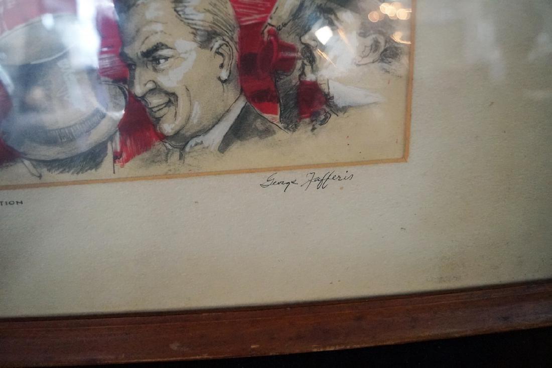 GEORGE JAFFENS ILLUSTRATOR SGN. WORK ON PAPER & MYLAR - 2