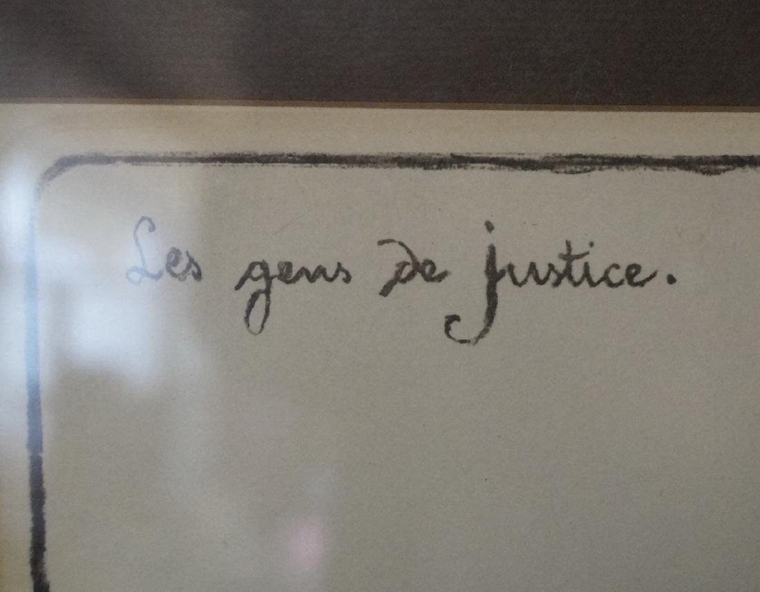"""DAUMIER PRINT """"LES GENS POUR LA JUSTICE"""" SGN. IN PENCIL - 3"""