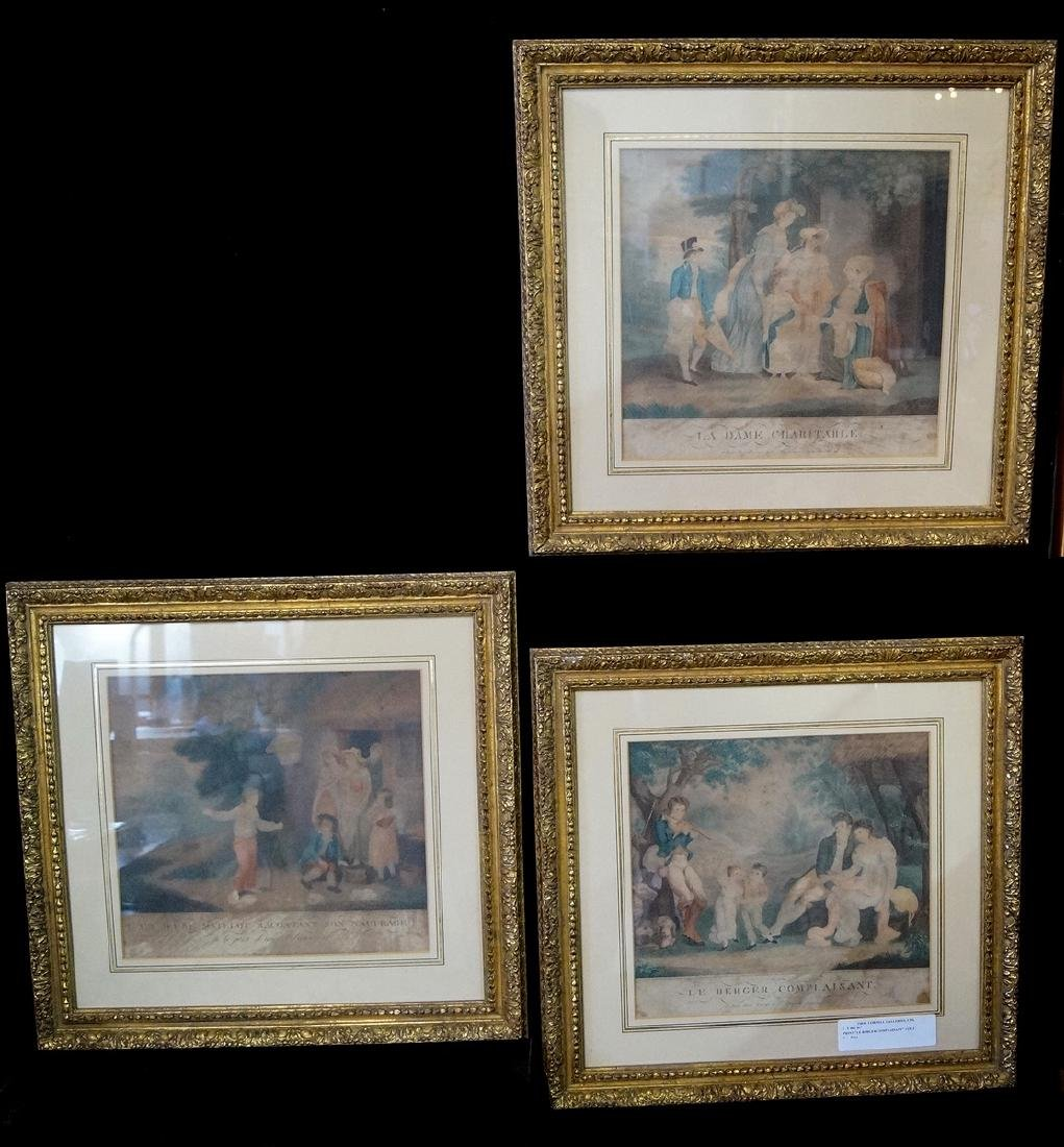 """GROUP OF 3 FRENCH PRINTS, INC. """"LE BERGER COMPLAISANT"""""""