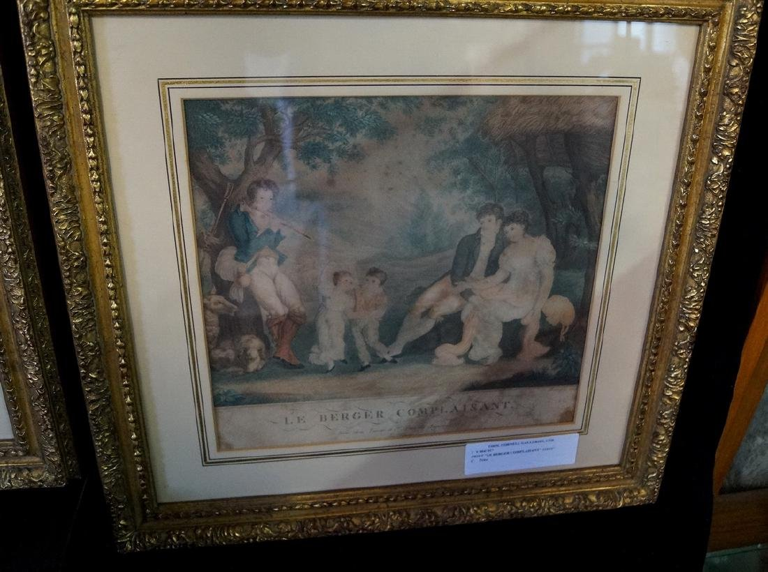 """GROUP OF 3 FRENCH PRINTS, INC. """"LE BERGER COMPLAISANT"""" - 3"""