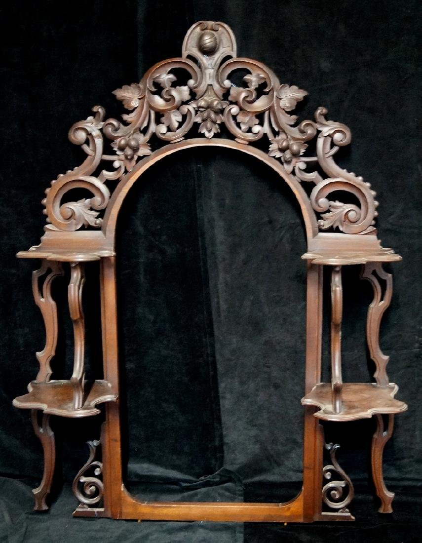 CARVED VICTORIAN HANGING SHELF