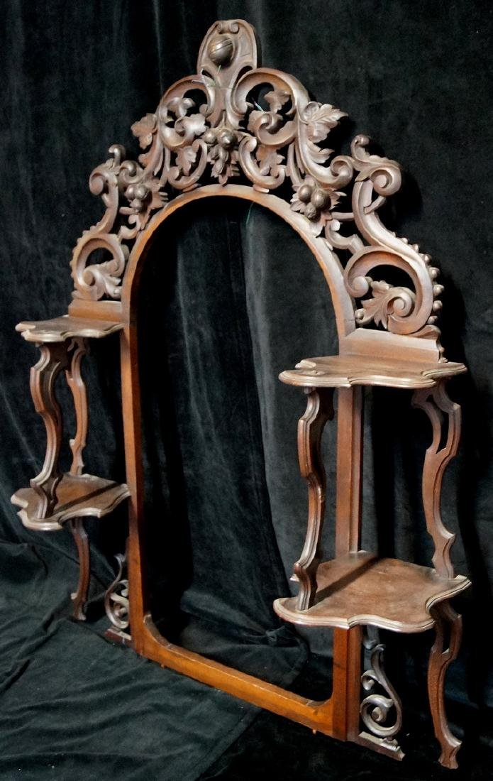 CARVED VICTORIAN HANGING SHELF - 2