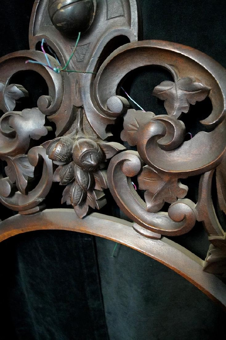 CARVED VICTORIAN HANGING SHELF - 3