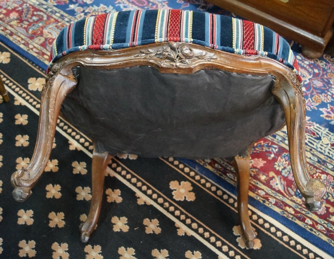 PR. OF CARVED AND UPHOLSTERED LOUIS XV STYLE ARM CHAIRS - 6