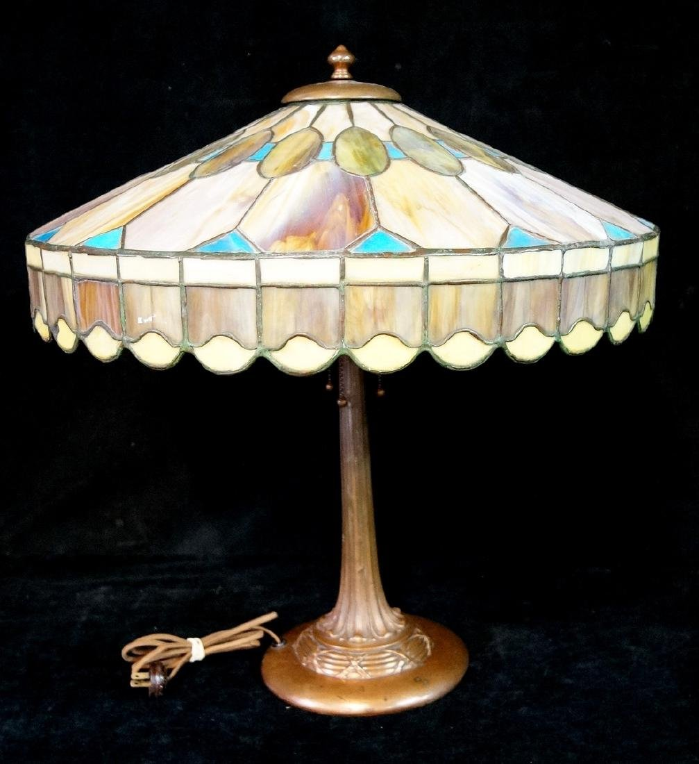 DUFFNER & KIMBERLY STYLE TABLE LAMP (NOT SIGNED)