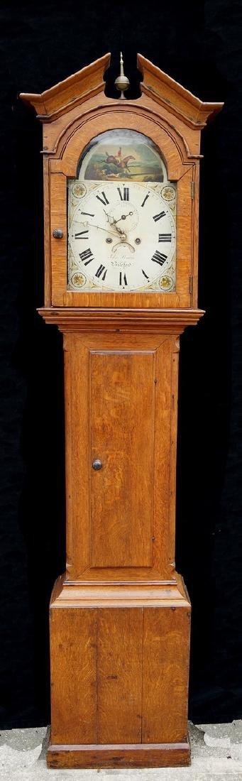 19TH C. S. BIDEFORD OAK TALLCASE CLOCK