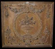 18TH C. CARVED WOOD PLAQUE