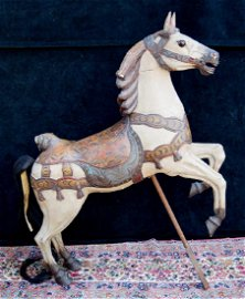 ANTIQUE CHILDS CAROUSEL HORSE