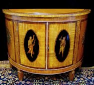 NEO-CLASSICAL STYLE SATINWOOD CABINET