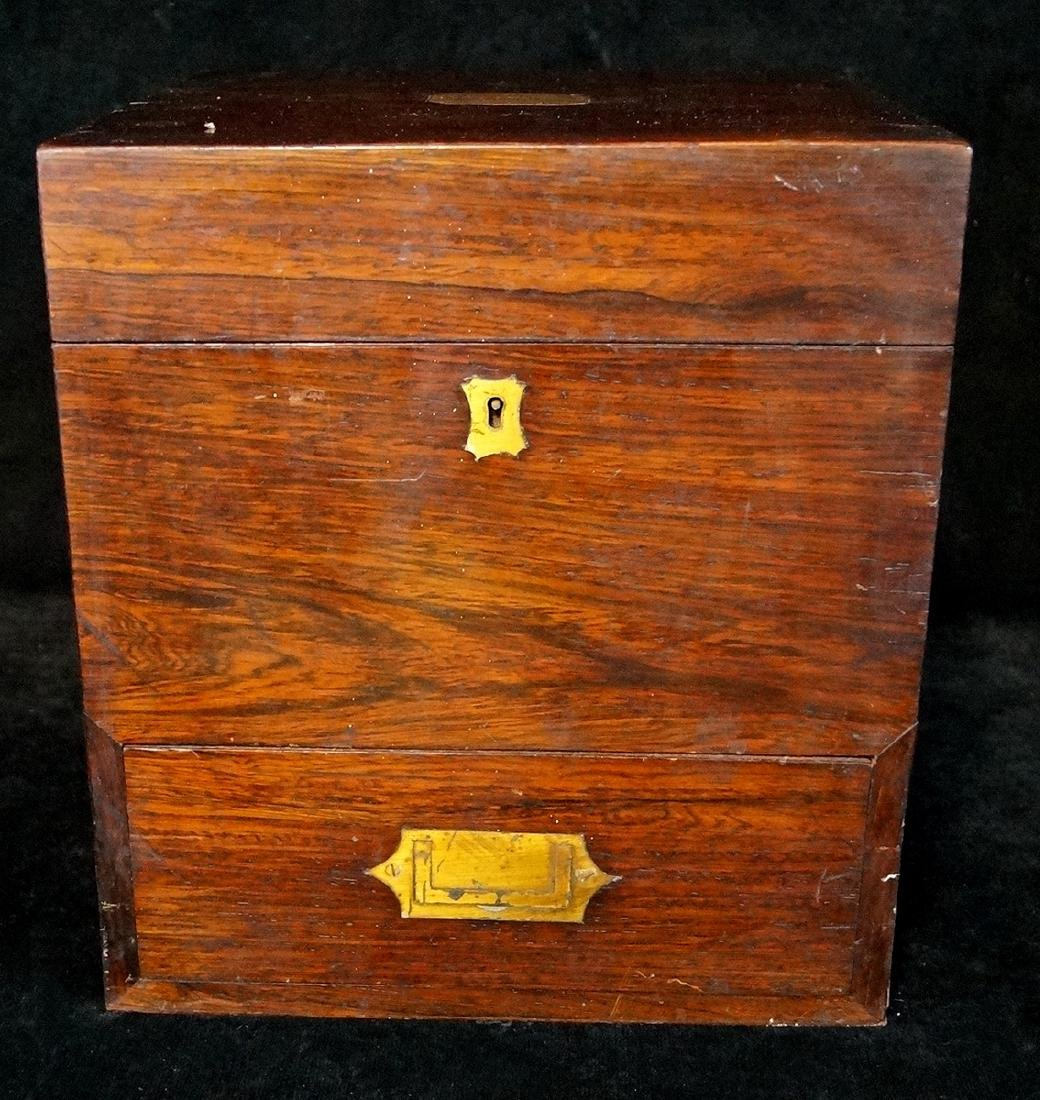 19TH C. MEDICAL BOX  WITH BOTTLES - 2