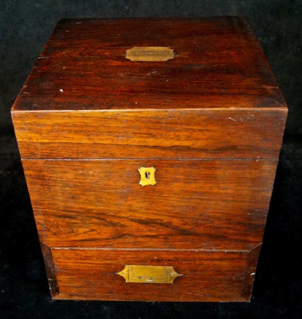 19TH C. MEDICAL BOX  WITH BOTTLES - 3