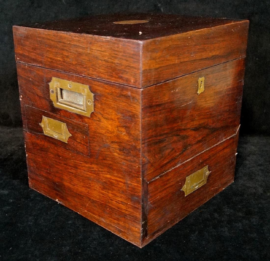 19TH C. MEDICAL BOX  WITH BOTTLES - 4
