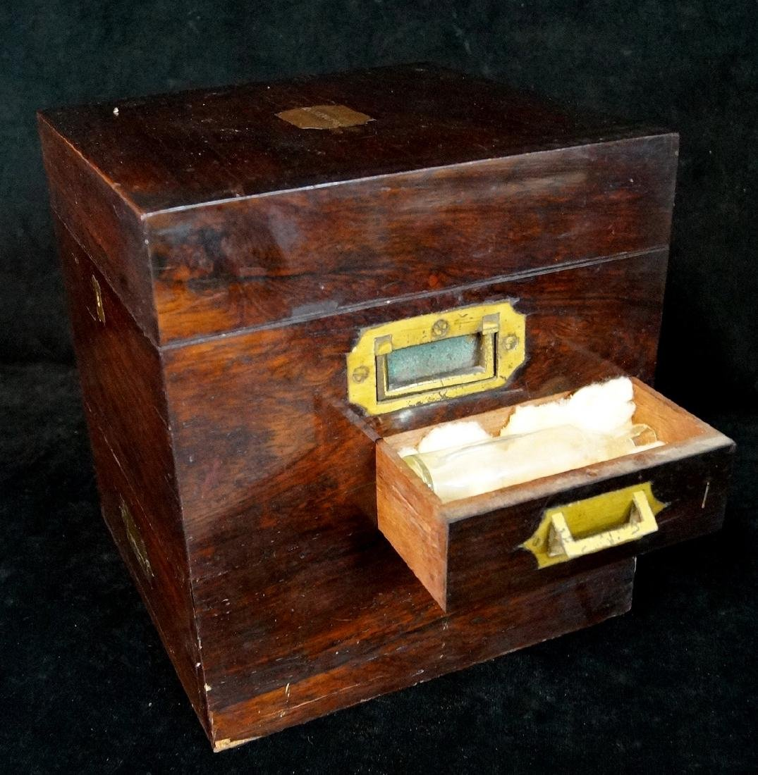 19TH C. MEDICAL BOX  WITH BOTTLES - 5