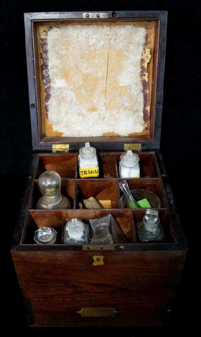 19TH C. MEDICAL BOX  WITH BOTTLES - 7