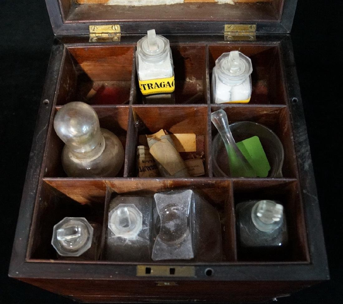 19TH C. MEDICAL BOX  WITH BOTTLES - 8