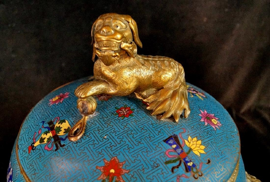 CHINESE FIGURAL CLOISONNE BOWL - 2