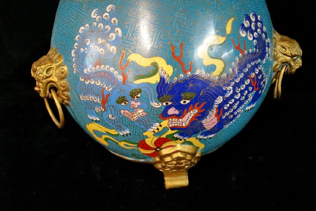 CHINESE FIGURAL CLOISONNE BOWL - 6