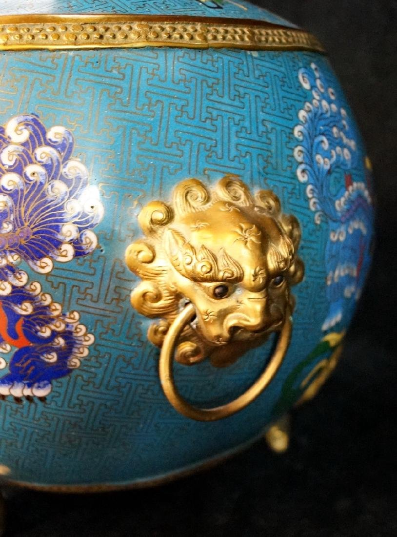 CHINESE FIGURAL CLOISONNE BOWL - 8