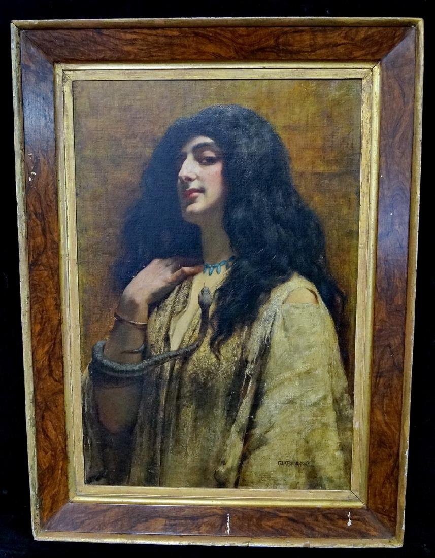 """WM. A BREAKSPEARE SGN. OIL ON CANVAS """"CLEOPATRA WITH"""