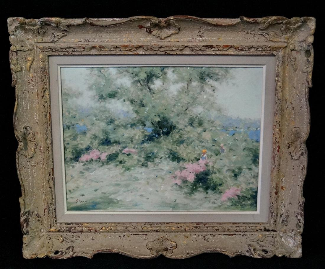 ANDRE GISSON SGN. IMPRESSIONIST STYLE LANDSCAPE WITH