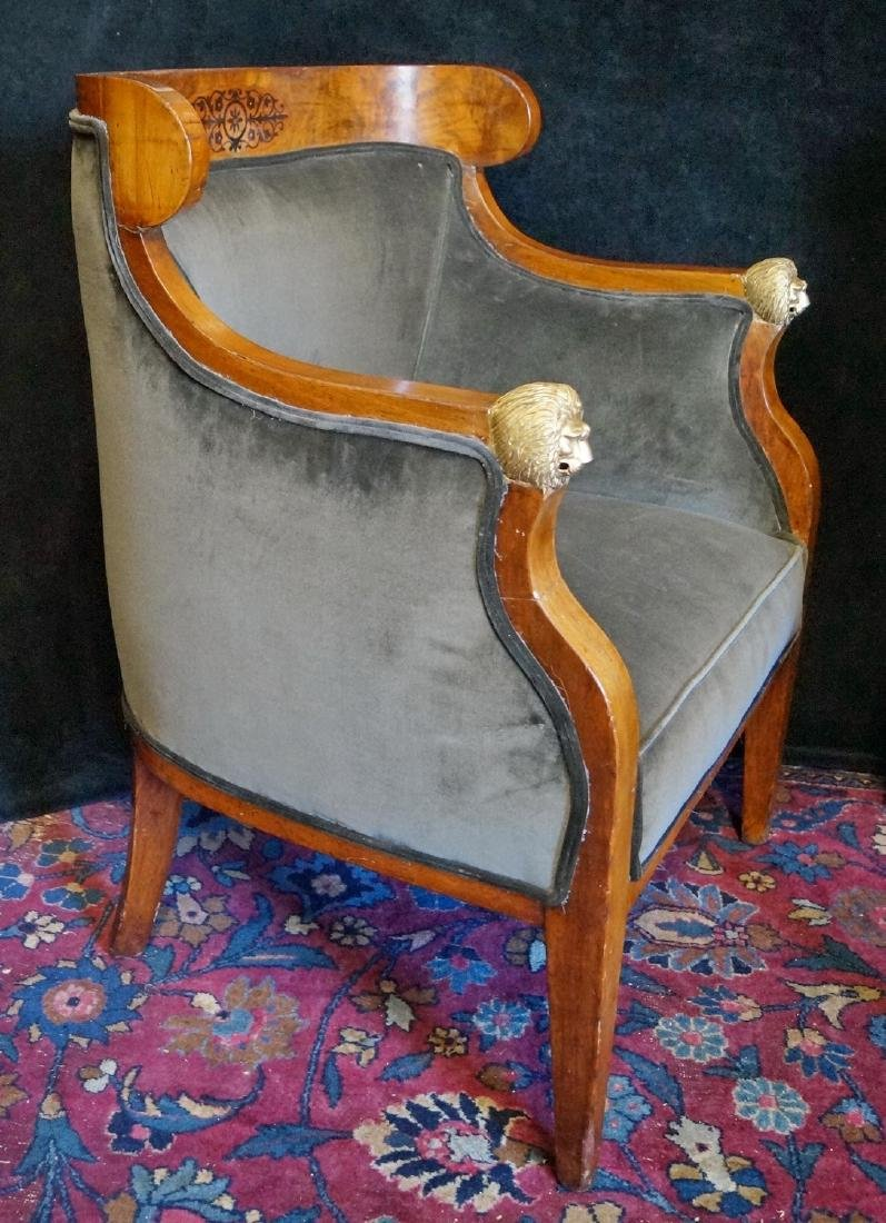 PR. 19TH C. BRONZE MOUNTED & INLAID  ARM CHAIRS - 2
