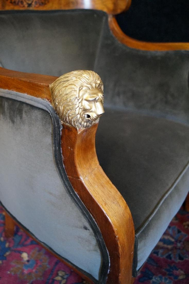 PR. 19TH C. BRONZE MOUNTED & INLAID  ARM CHAIRS - 3