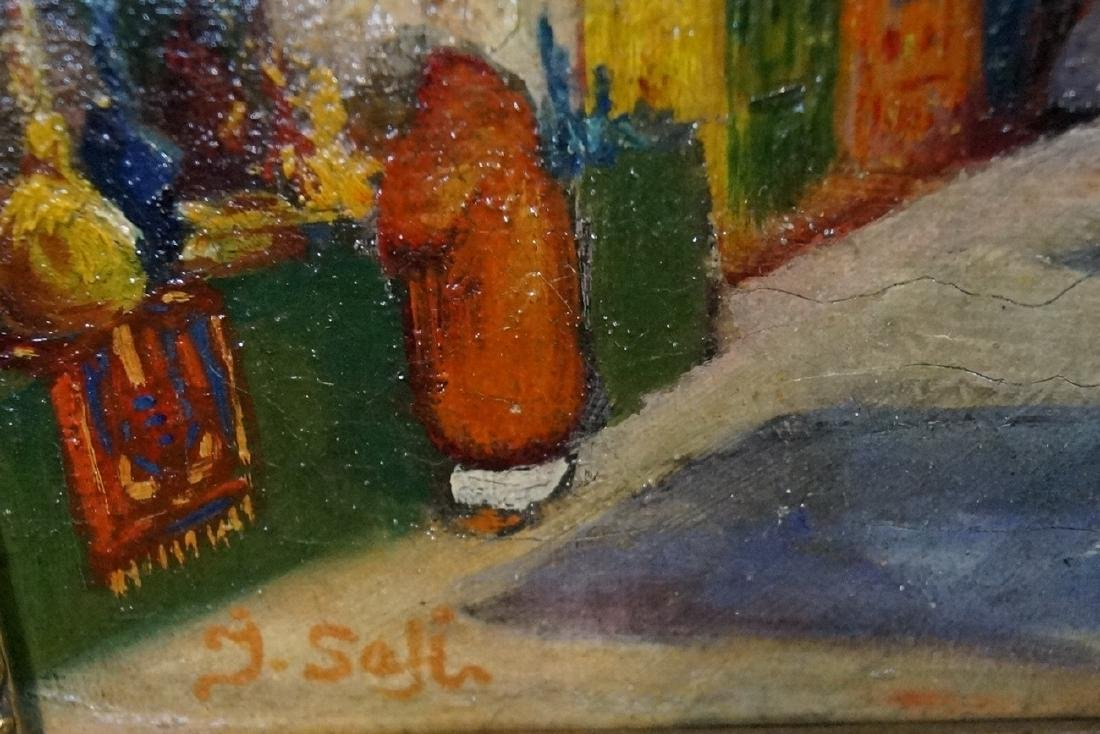 IBRAHIM SAFI SGN. OIL ON CANVAS ORIENTALIST SCENE - 2