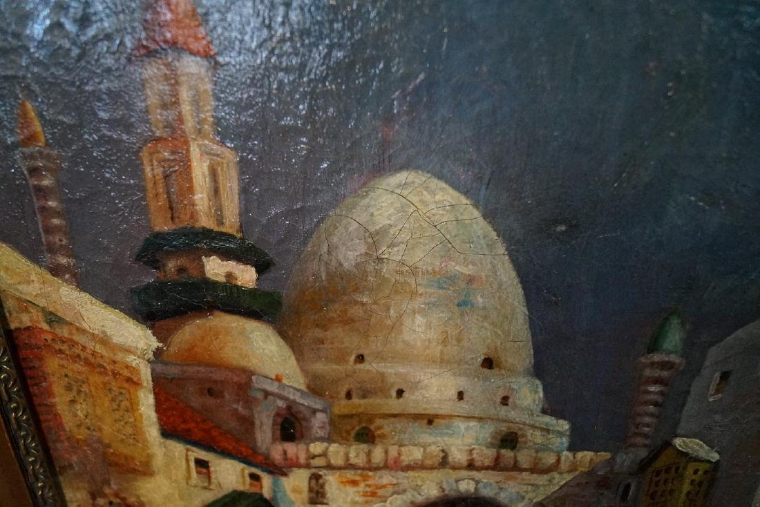 IBRAHIM SAFI SGN. OIL ON CANVAS ORIENTALIST SCENE - 4