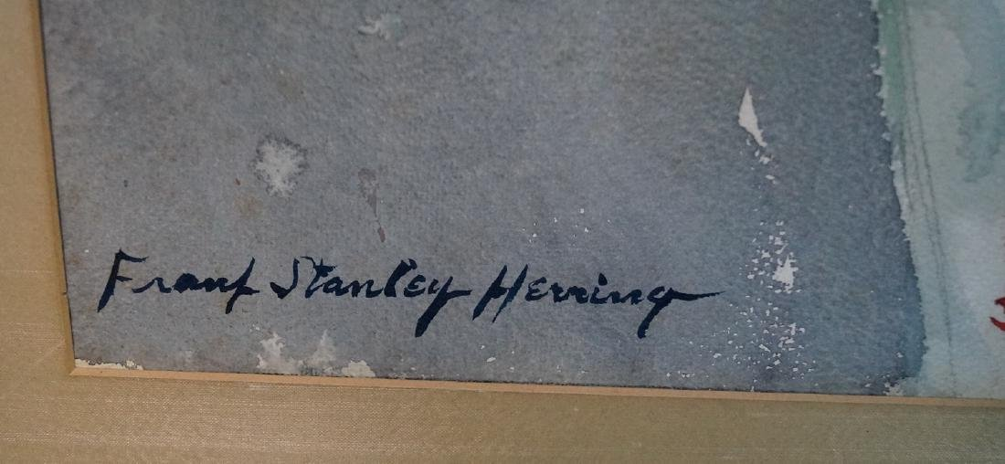 FRANK STANLEY HERRING SGN. WATERCOLOR PORTRAIT OF AN - 4