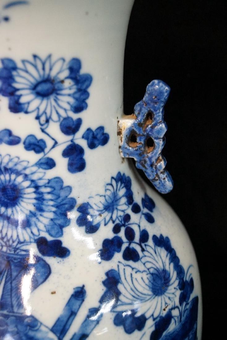 ORIENTAL BLUE & WHITE VASE - 3