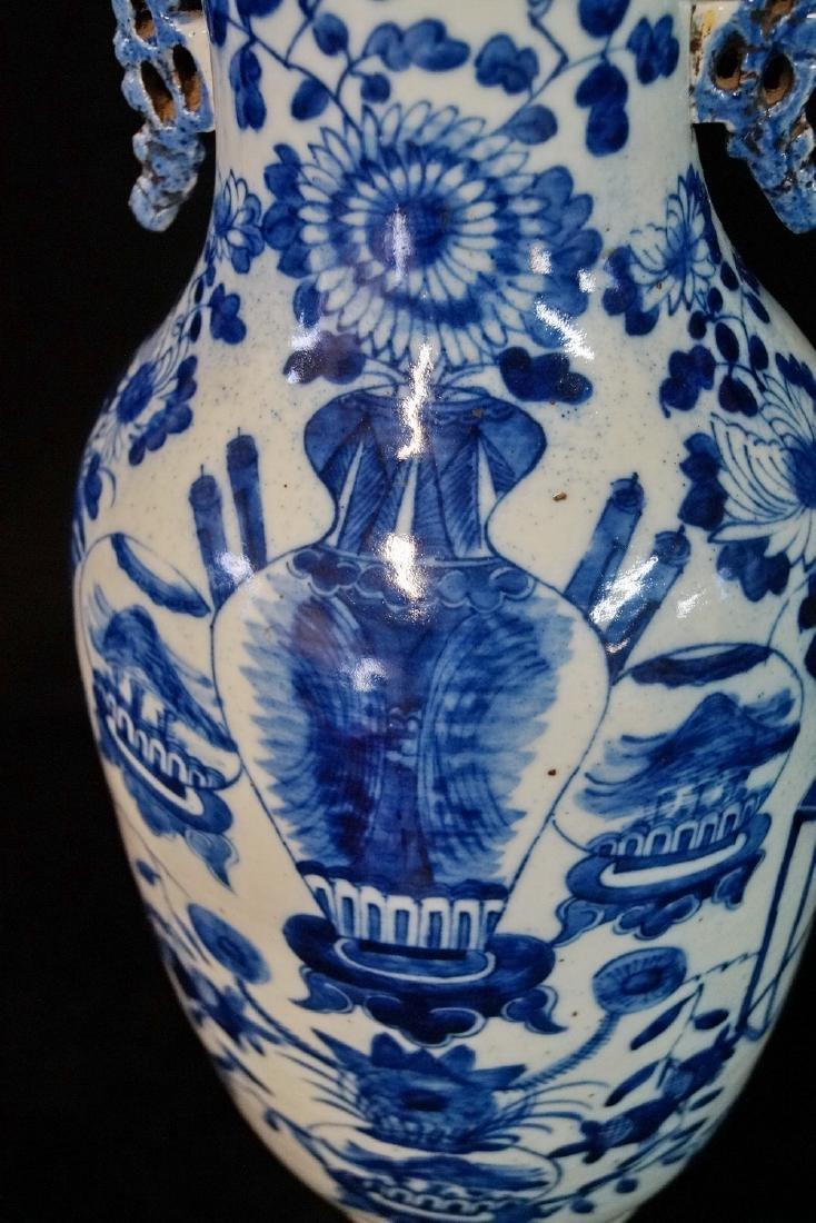 ORIENTAL BLUE & WHITE VASE - 4