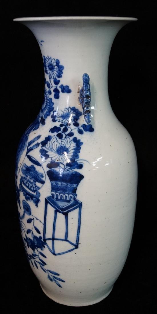 ORIENTAL BLUE & WHITE VASE - 5