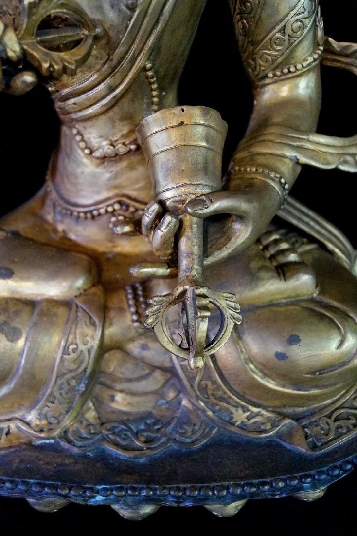 LARGE BRONZE TIBETAN BUDDHA - 2