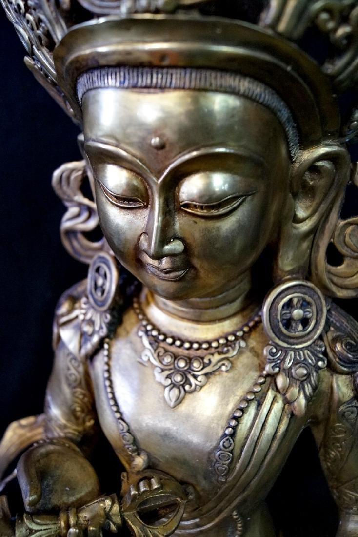 LARGE BRONZE TIBETAN BUDDHA - 4