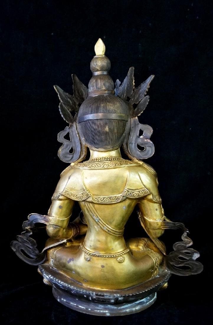 LARGE BRONZE TIBETAN BUDDHA - 6