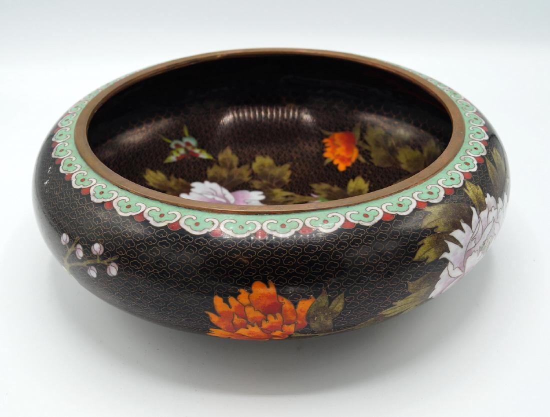 BLACK CLOISONNE BOWL