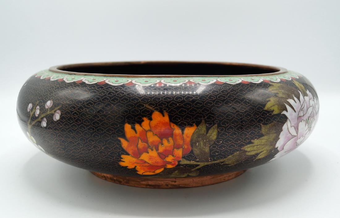 BLACK CLOISONNE BOWL - 2
