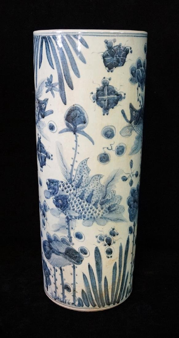 ORIENTAL BLUE & WHITE UMBRELLA STAND