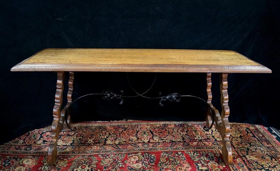 SOFA TABLE W/ IRON BASE