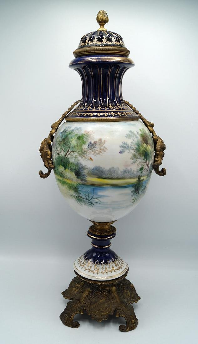 SEVRES STYLE COVERED URN