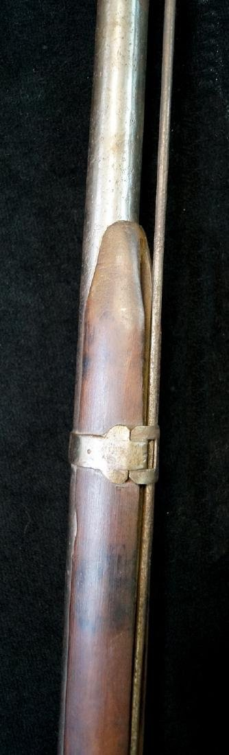 19TH C. FLINTLOCK BLACK POWDER RIFLE - 5