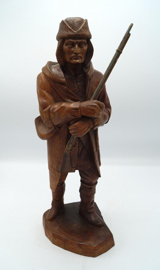 CARVED FIGURE: FRONTIERSMAN