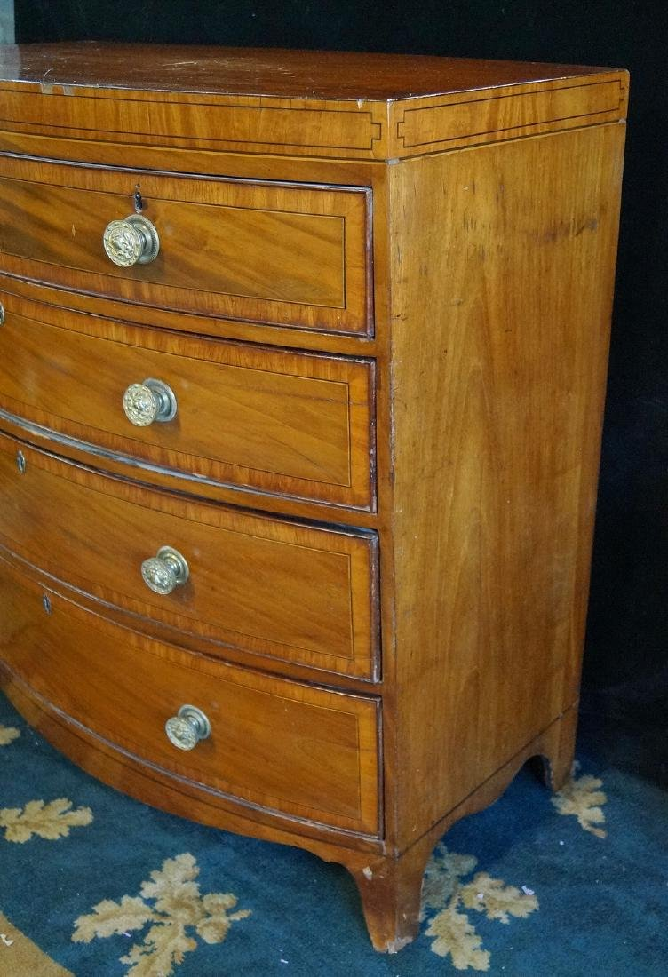GEORGE III INLAID MAHOGANY CHEST OF DRAWERS - 2