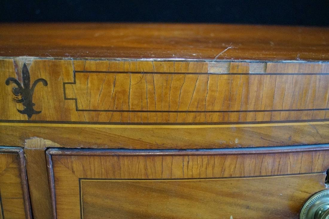 GEORGE III INLAID MAHOGANY CHEST OF DRAWERS - 4