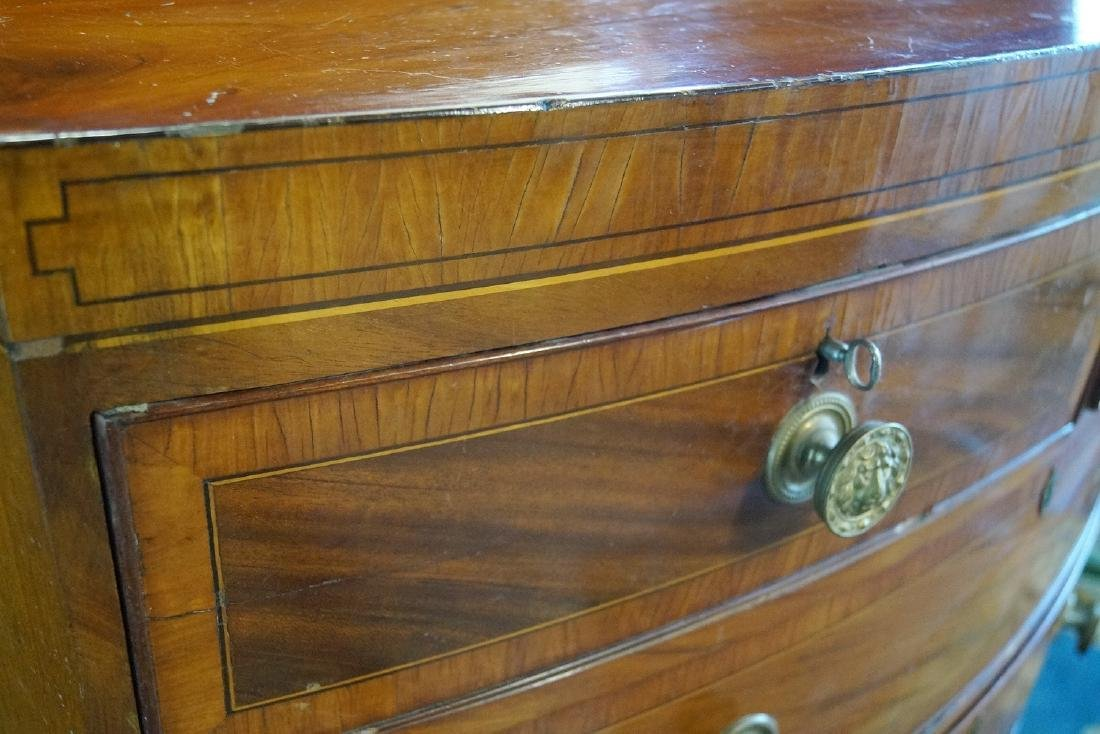 GEORGE III INLAID MAHOGANY CHEST OF DRAWERS - 7
