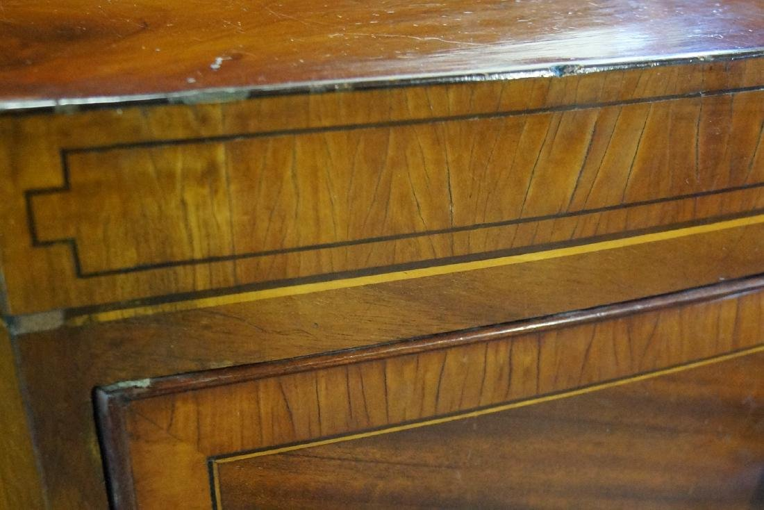 GEORGE III INLAID MAHOGANY CHEST OF DRAWERS - 8